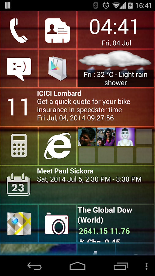 Home8 like Windows8 launcher- screenshot