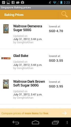 Singapore Baking prices