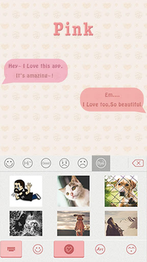 Pink Theme for iKeyboard-emoji
