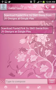 Pastel Pink Go SMS Theme - screenshot thumbnail