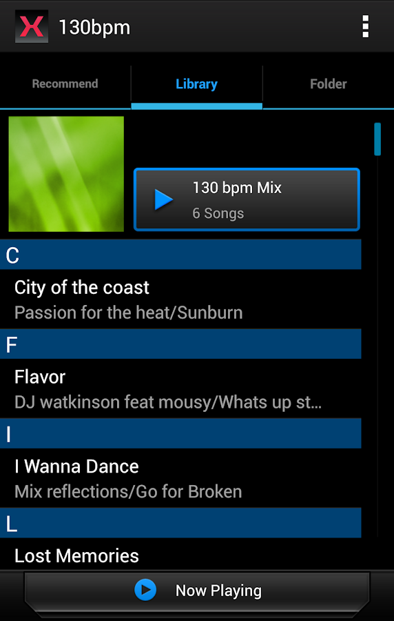 MIXTRAX App- screenshot