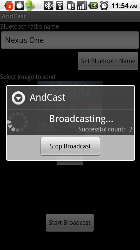 AndCast Bluetooth Marketing - screenshot