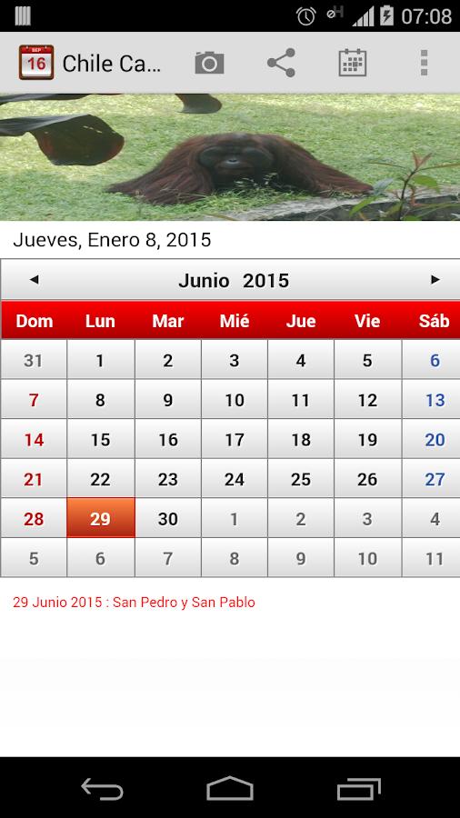 Chile Calendario 2015 - screenshot