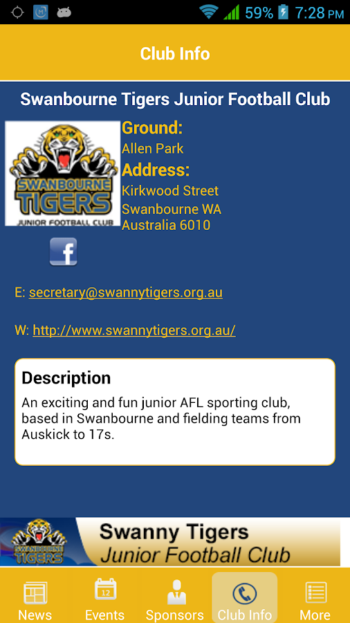 Swanbourne Tigers Junior FC- screenshot