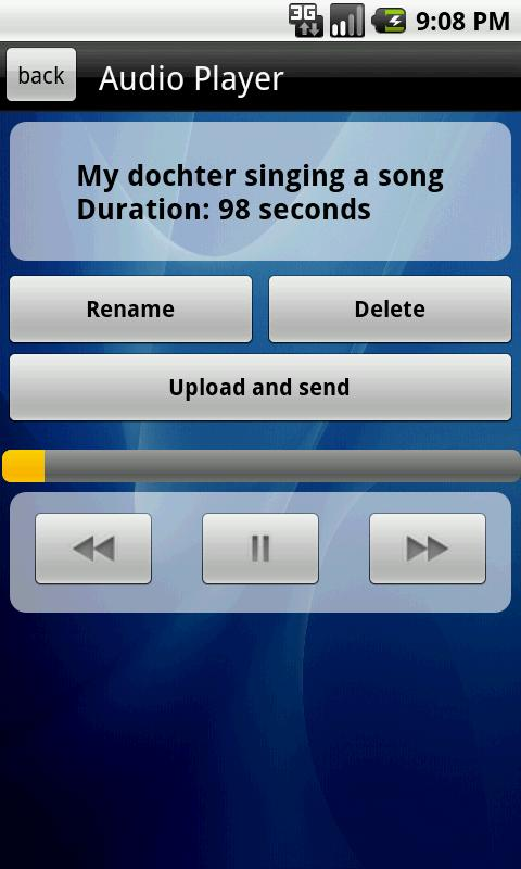 Audio Tweet Recorder - screenshot