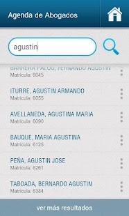 Agenda de Abogados de Tucumán: miniatura de captura de pantalla