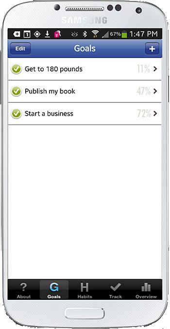 Habit Factor® LT, Goals,Habits- screenshot