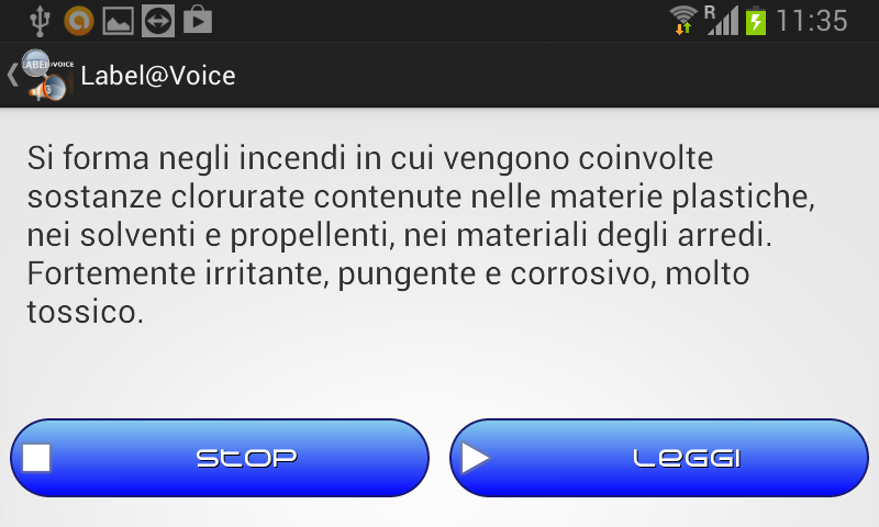 Label@Voice - lettore stampe- screenshot