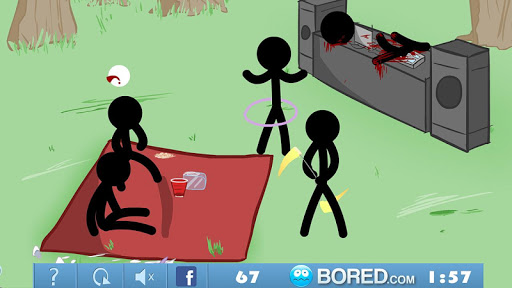 Stickman Click Death Park