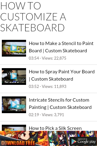Customize Skateboard