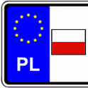 Vehicle registration plates icon