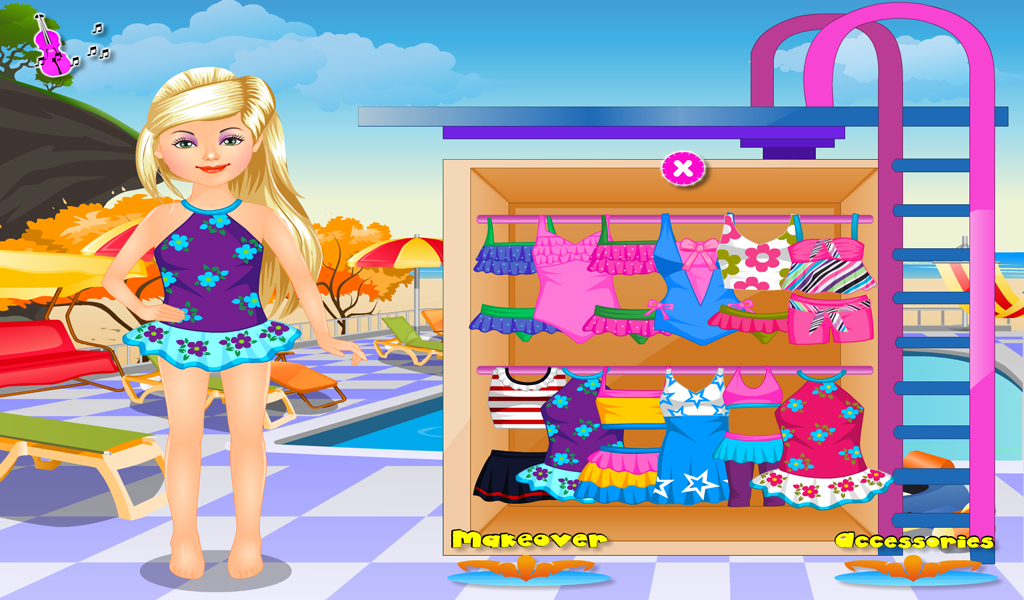 Swimming Pool Dress Up- screenshot