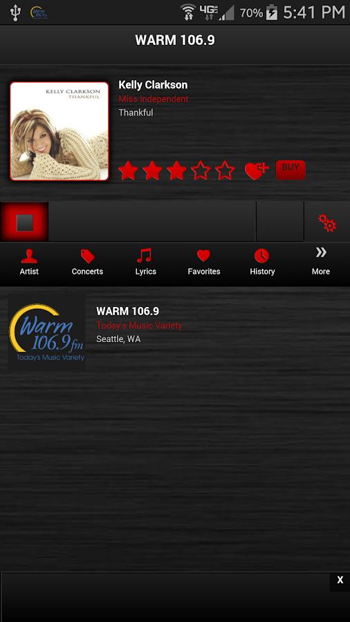 Warm 106.9- screenshot