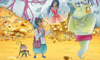 Screenshot of Aladdin & The Magic Lamp Book
