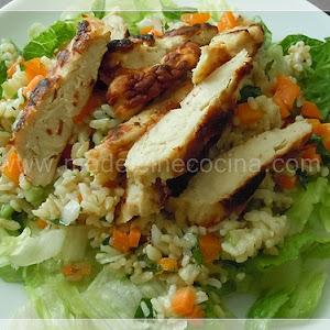 Rice and Roasted Chicken Salad