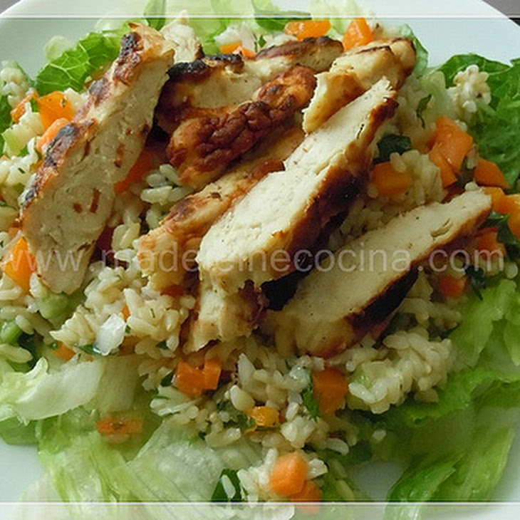 Rice and Roasted Chicken Salad Recipe