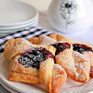 Eggless Danish Pastry Envelopes, Blueberry Jam Envelopes