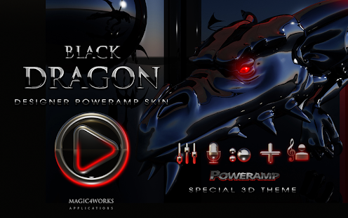 poweramp skin black dragon