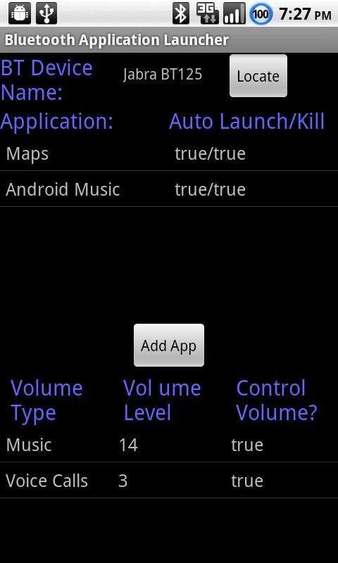 Bluetooth App. Launcher (Free)- screenshot