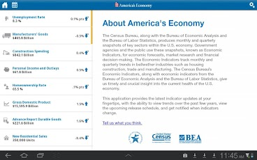 Logo for America's Economy App for Android Tablet