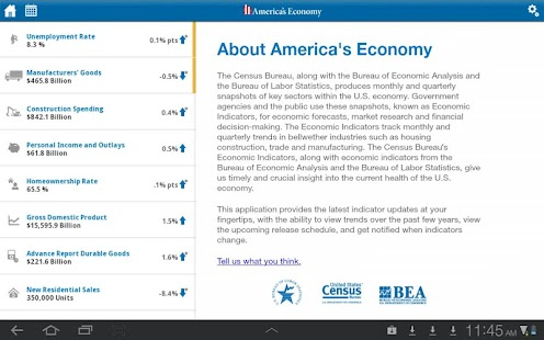 America's Economy for Tablet - screenshot thumbnail