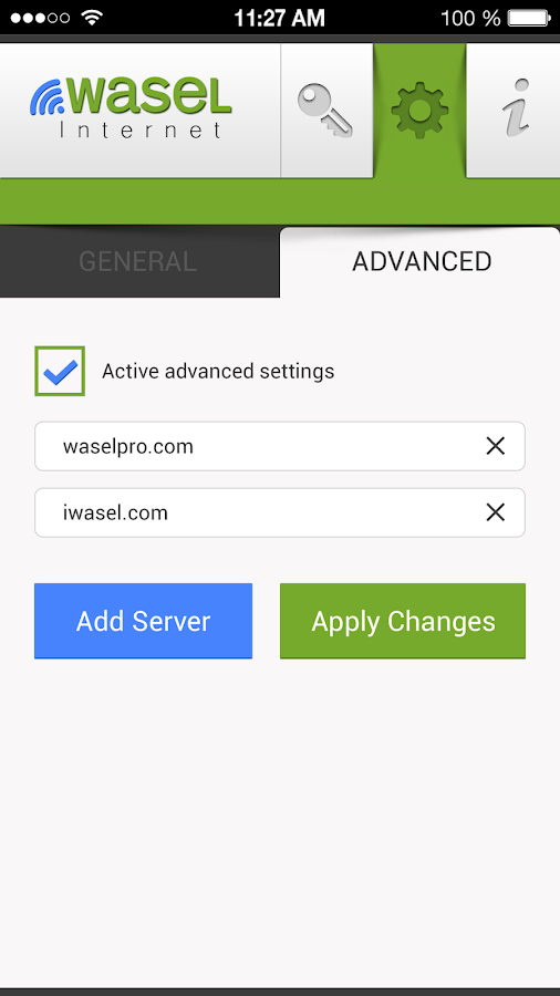 iWASEL OpenVPN for Android- screenshot