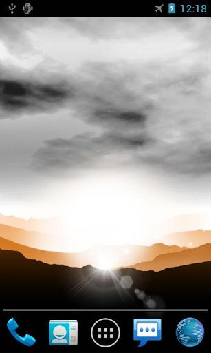 تحميل خلفية Sunrise Live Wallpaper