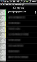 Screenshot of NTNU Instant Voice Messenger