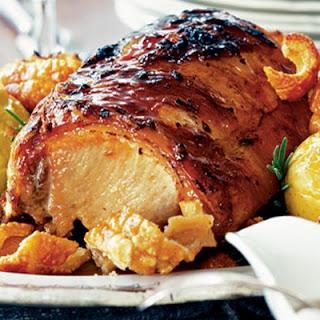 Roast Pork with Apples, Cider Vinegar & Rosemary Recipe