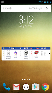 Blik Calendar Widget- screenshot thumbnail