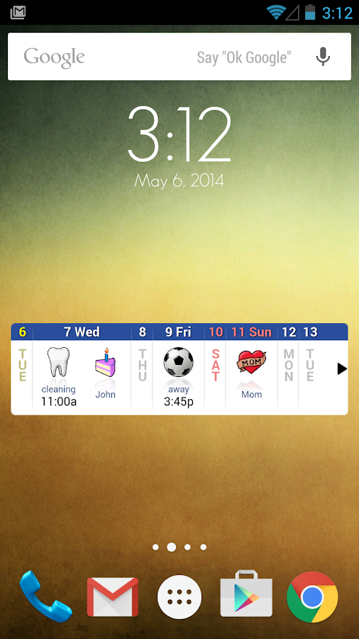 Blik Calendar Widget- screenshot