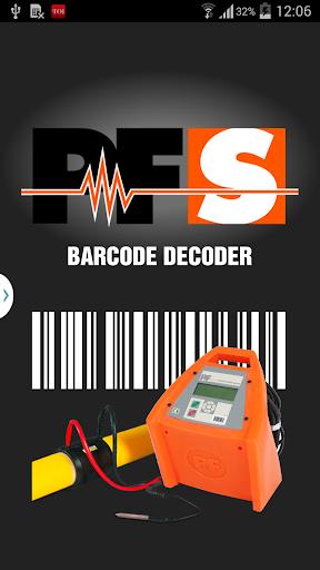 PFS Barcode Decoder