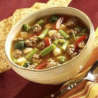 Slow Cooker Sausage Vegetable Soup.