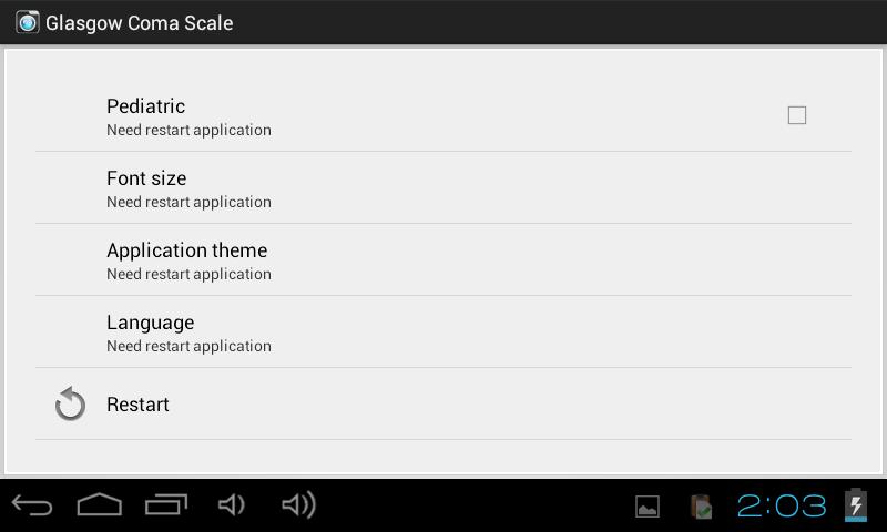 Glasgow Coma Scale - screenshot