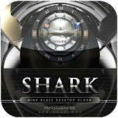 Shark clock widget