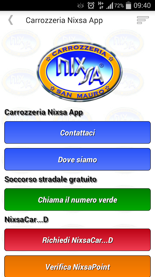 Carrozzeria Nixsa App- screenshot