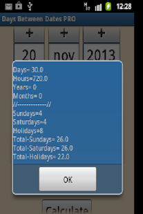 Days Between Dates - screenshot thumbnail