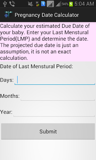 Pregnancy Date Calculator