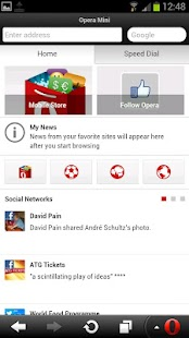 Opera Mini browser for Android - screenshot thumbnail