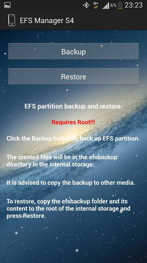 EFS Manager S4- screenshot