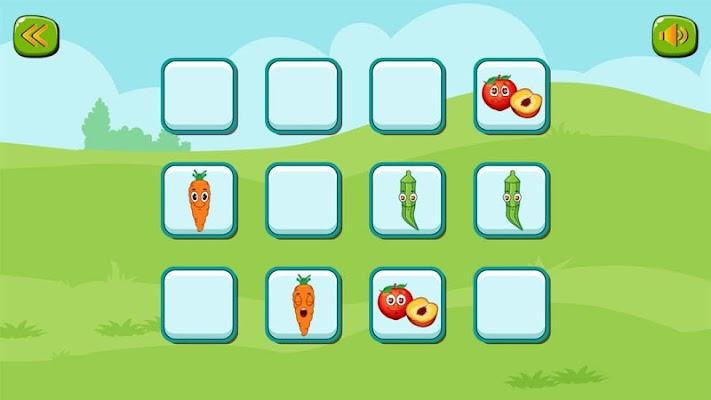 تعلم والعب : الخضروات والفاكهة - screenshot