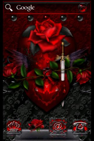 ADWTheme紅色黑色哥特之心