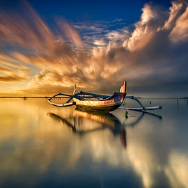 reflected by Rizki Mahendra - Transportation Boats ( water, device, transportation )