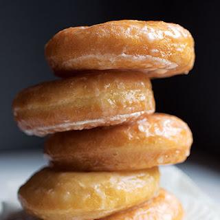 Vanilla-Glazed Yeast Donuts.