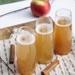Spiced Apple Cider Champagne Cocktail.