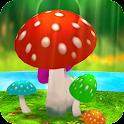 Mushrooms 3D Live Wallpaper icon