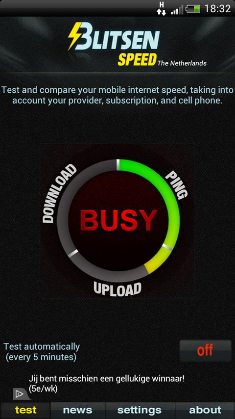 Blitsen Speedtest 3G/4G - screenshot