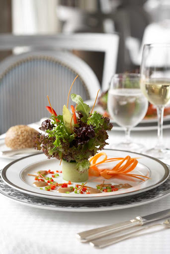 Murano_salad - A salad prepared at Murano aboard Celebrity Cruises.