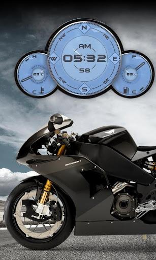 Buell Motorbike Compass Widget