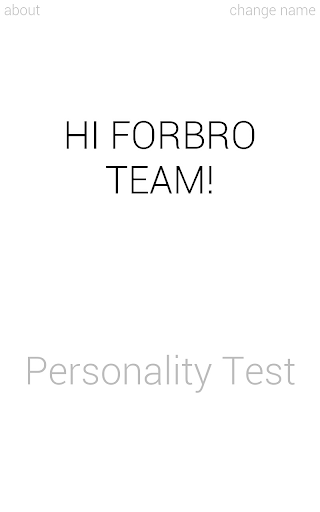 Personality Test In 1-minute